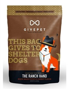 GivePet The Ranch Hand Pet Treats Bacon, Baked Potato & Carrot Flavor in 12 oz Bag