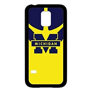Generic Custom Personalized Design NCAA University of Michigan Wolverines Blue and Yellow Team Logo Plastic and TPU Case Cover for SamsungGalaxyS5 Mini(Laser Technology)
