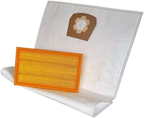 daniplus 10 bolsas de aspiradora + filtro apto para HILTI VC 20 U ...