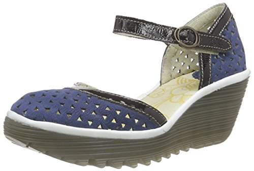 FLY London Yude646fly - Sandalias Mujer Multicolor - Mehrfarbig (BLUE/BLACK/OFF WHITE 004)