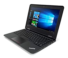 "Lenovo ThinkPad 11e 11.6"" Business Laptop Computer, Intel Dual-Core i3-6100U 2.30GHz, 8GB RAM, 256GB SSD, 802.11ac, HDMI, Bluetooth, USB 3.0, Windows 10 Professional"