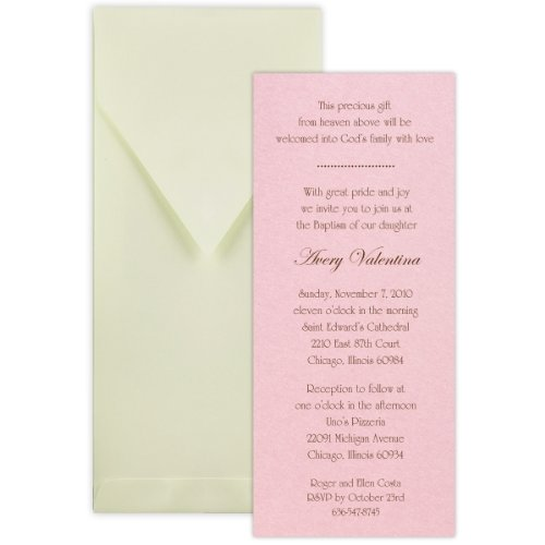 Tea with Thermography Style 2 Baptism Christening Invitation - Set of 20 ()