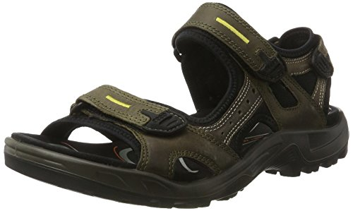 (ECCO Men's Yucatan Sandal,Tarmac/Moon Rock,50 M EU (US Men's 16-16.5)