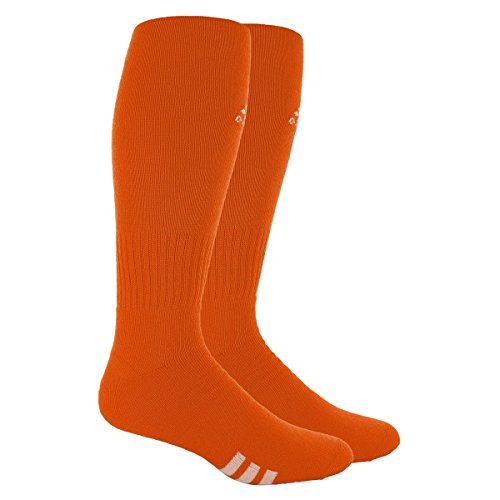 adidas Rivalry Field Multi-Sport Socks (2-Pack), Team Orange/White, Large