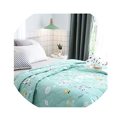 two New Summer air-Conditioning Quilt Summer Quilts Cover Children Single Adult Cartoon Washable Bed Home use Wholesale FG852,150 X 200CM,1 ()