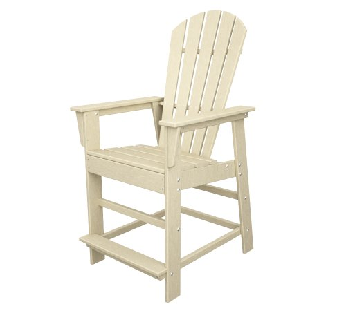 Adirondack Bar - POLYWOOD SBD24SA South Beach Counter Chair, Sand
