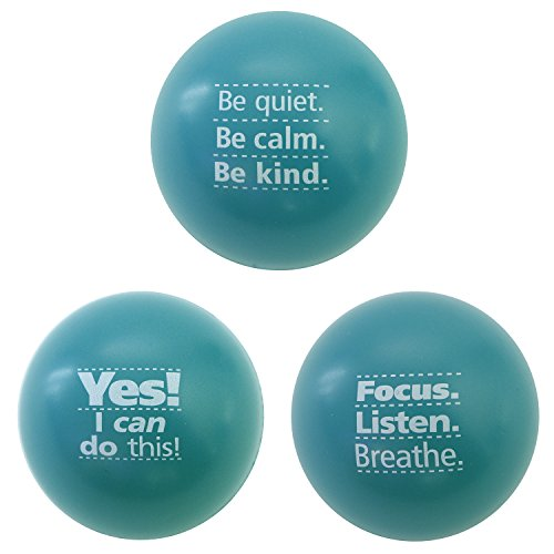 Motivational Stress Balls, 3 Pack, Teacher Peach Stress Reli
