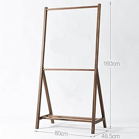 MIRUKU coat Impermeable Madera percheros Burro,Simple bambú ...