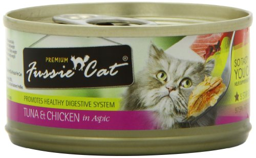 Fussie Cat Premium Tuna with Chicken Canned Cat Food – 24 – 2.82-oz. Cans, My Pet Supplies