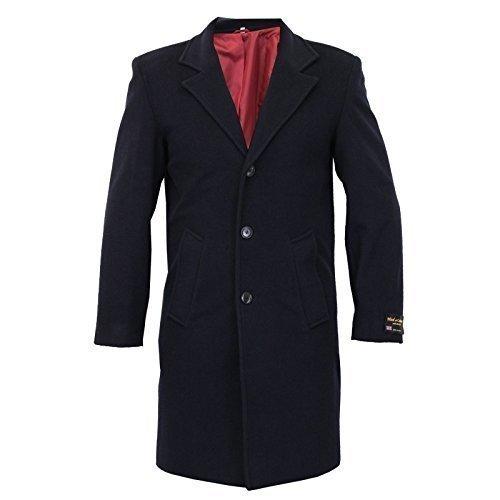 Herren Wolle Kaschmir Mantel Jacke Oberbekleidung Grabenzieher Warm Winter Gefüttert Neu