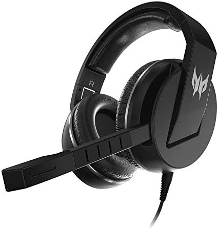 Acer Predator Galea 311 True Harmony Sound Gaming Headset: 50mm Drivers - Rotatable Omni-Directional MicOn-Cable Controls - Black NP.HDS11.00B