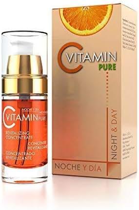 Noche Y Dia Vitamin C Serum - Anti Aging & Wrinkle Reducer Formula for Face and Skin - Brighten & Even Skin Tone - Dark Circle, Fine Line, & Sun Damage Corrector - Restore & Boost Collagen - 1.02 oz