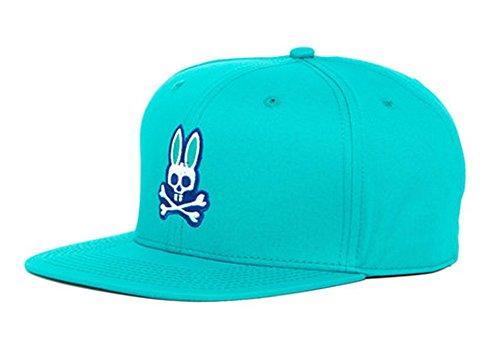 Psycho Bunny ROBERT GODLEY Flat Brim Snapback Cap Teal