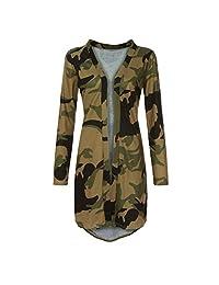 HHmei Women's Long Sleeve Casual Winter Loose Plaid Button Down Shirt Plus Size