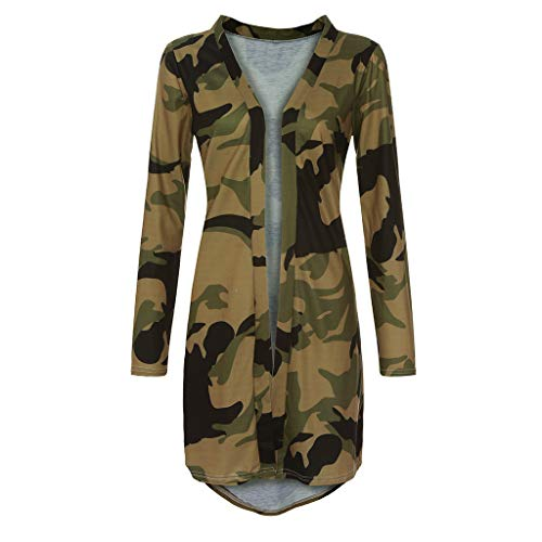 Women's Long Sleeve Casual Winter Loose Flannel Plaid Button Down with Pockets Shirt Top Plus Size, Wool Jackets Tall Tail Tops Hooded Brown, Medical Scrubs Jackets (Camouflage S)
