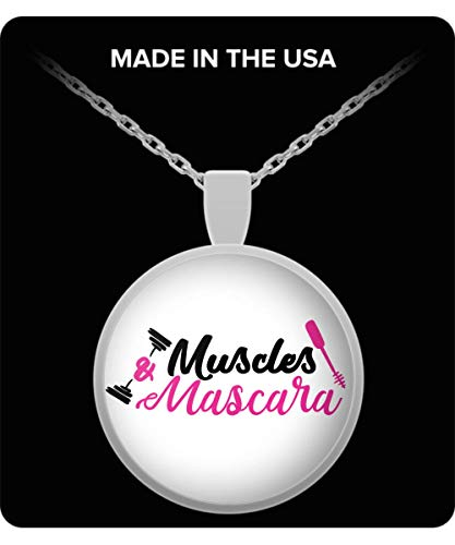 100 Hot Buys Muscles and Mascara Necklace for Personal Trainer Stylist Jewelry by 100 Hot Buys