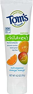 product image for Tom's of Maine Orange Mango Fluoride Toothpaste for Kids, 4.2 Ounce - 6 per case.