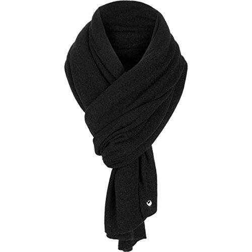 UGG Women's Luxe Oversized Wrap Black Scarf One Size by UGG