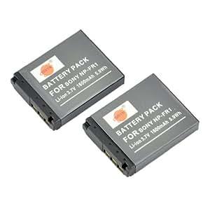 DSTE® 2x NP-FR1 Li-ion Batería para Sony Cyber-shot DSC-F88, DSC-G1, DSC-P100, DSC-P150, DSC-P200, DSC-T30, DSC-T50, DSC-V3