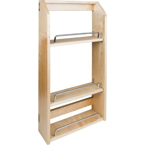 Hardware Resources SPR12A Wall Cabinet Adjustable Spice Rack, Hard Maple