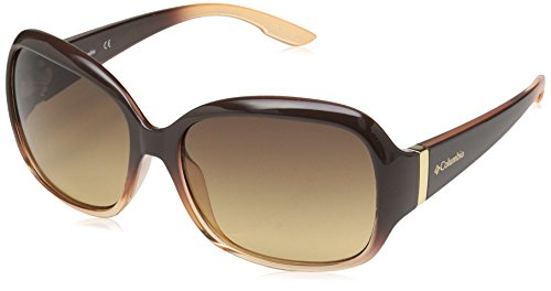 izons Pine Oval Sunglasses, Brown Fade, 57 mm (Columbia Womens Sunglasses)