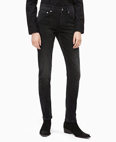 - Calvin Klein Women's Mid Rise Slim Fit Jeans, Denver washed black, 28X30