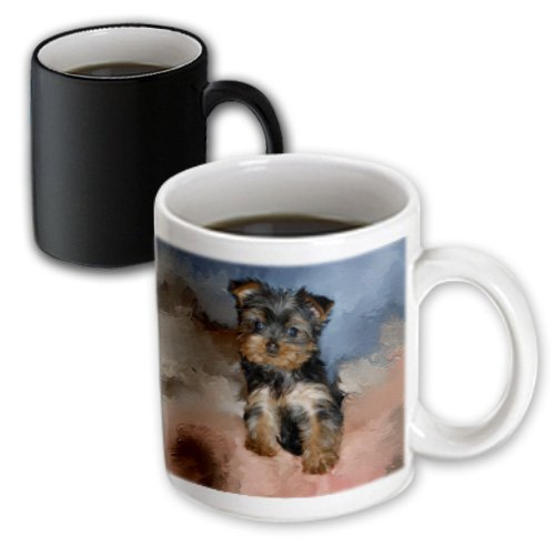 Pictures Yorkie (3dRose mug_3868_3 Toy Yorkie Puppy Magic Transforming Mug, 11-Ounce)