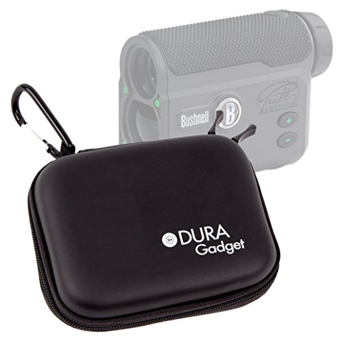 DURAGADGET Black Hard EVA Rangefinder Case / Box for Bushnell The Truth (With CLEARSHOT) Laser Rangefinder - with Carabiner Clip & Twin Zips