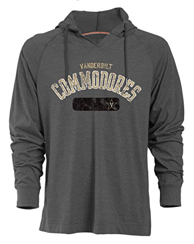 NCAA Vanderbilt Commodores Men's Long Sleeved Pullover Hoodie, XX-Large, Charcoal Heather