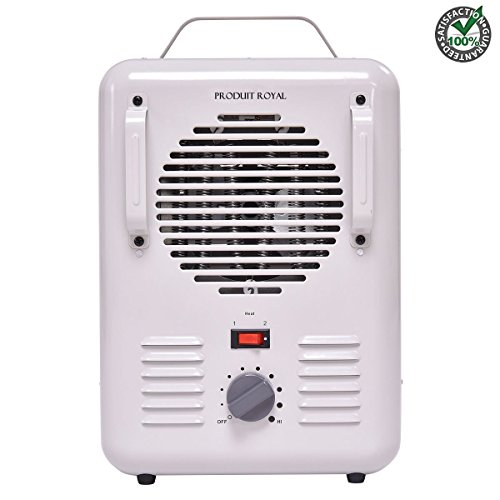 Produit Royal Electric Space Heater with Thermostat & Auto Shutoff | Portable 1500 W Energy Efficient Kids Safe Air Heating Wall Fan For Office Home Indoor Under Desk Garage Shop Fireplace Large room For Sale