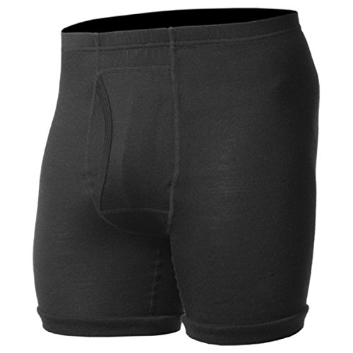 Minus33 Merino Wool Men's Acadian Lightweight Boxer Brief, Black, X-Large (Boxer Thermal Underwear compare prices)
