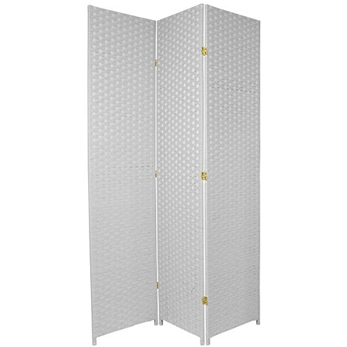 Cheap  Oriental Furniture 7 ft. Tall Woven Fiber Room Divider - White -..