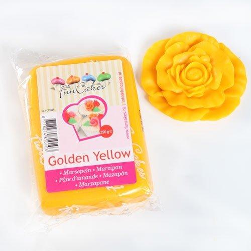Funcakes Marzipan Golden Yellow 250g