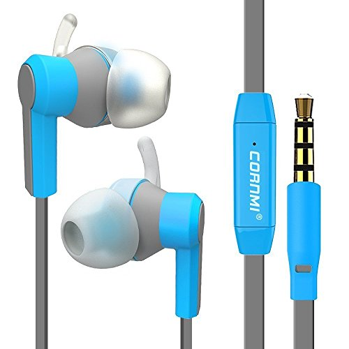 In Ear Headphones, Noise Isolating Sweatproof Wired 3.5MM Headphones with Microphone Stereo Earbuds, Stereo Headset for Headset for iPhone iPod & Android Devices