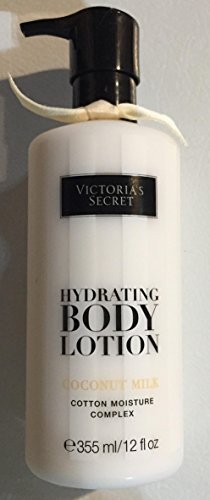 - Victoria's Secret 12 Fl Oz Hydrating Body Lotion Coconut Milk, Cotton Moisture Complex