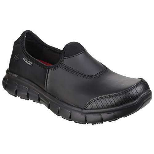 Skechers Sure Shoes Safety Track Black Women''s aanFqWS