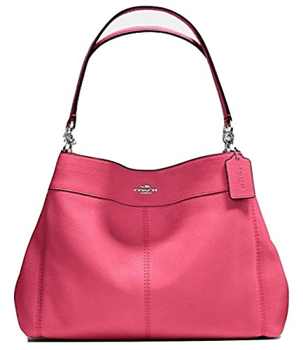 Coach Pebbled Leather Lexy Strawberry Shoulder Bag Purse - #F57545