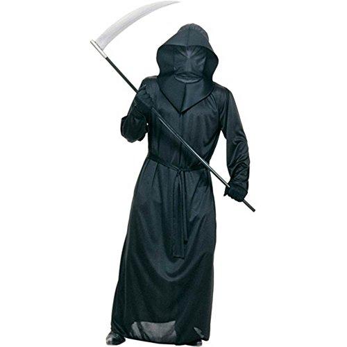Black Mesh Face Robe - Mesh Face Robe Adult Costume - Standard