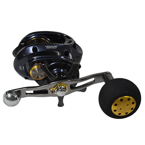 Daiwa LEXA-HD400HS-P Lexa Type-HD Baitcasting Reel, 400 High Speed, 7.1: Gear Ratio, 6CRBB, 1RB Bearings, 25 lb Max Drag, RH