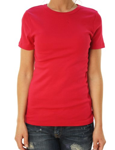 J. Crew Womens Short Sleeve Crew Neck Basic T-Shirt Raspberry Red