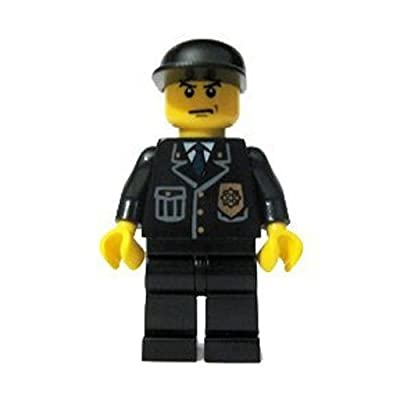 LEGO Police Officer (Black Cap) City 2 Figure: Toys & Games
