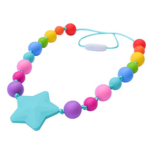 (Munchables Starlight Chewable Necklace for Girls - Kids Sensory Chew Jewelry (Rainbow)     )