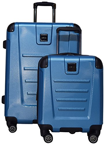 Kenneth Cole Reaction Get Away 2-Piece Expandable Upright Luggage Spinner Set: 25'' and 16'' Carry On Under Seat Bag (Ocean Blue) by Kenneth Cole REACTION