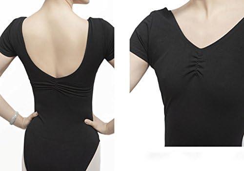 ファッション大人のバレエダンスレオタードBLACK、XL(アジアンサイズ) #01