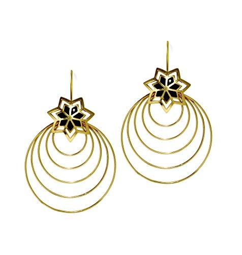 Mela Artisans MAER053 Circles of Light Earrings