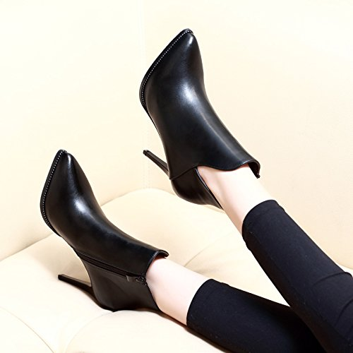 Heels New All Martin V The Boots And Fine High Winter Fleece Ankle HGTYU Shoes With Black Match Boots Boots Winter z0tqPw