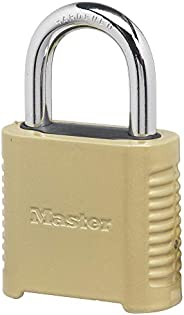 Master Lock 875D Heavy Duty Outdoor Combination Lock, 2 in. Wide, Brass Finish