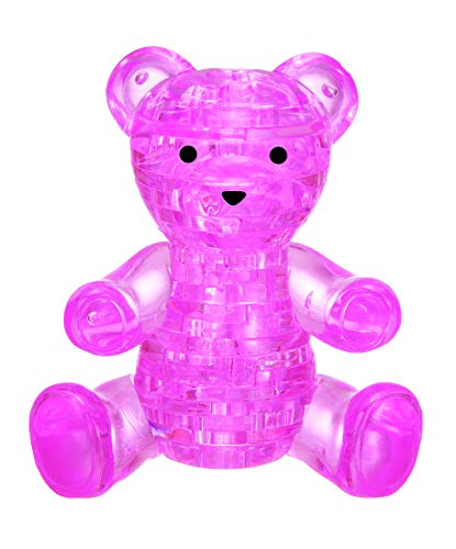 Original 3D Crystal Puzzle - Teddy Bear (Pink): 41 Pieces
