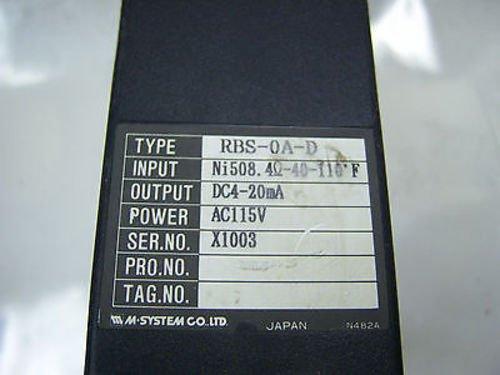 M System Rbs Transmitter Rbs-Oa-D (7530)