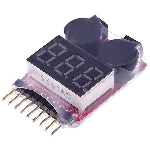 Elegantstunning 5pcs/Set RC Lipo Battery Low Voltage Alarm 1S-8S Buzzer Indicator Checker Tester LED